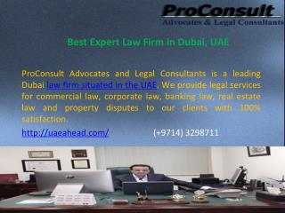 Best Expert Law Firm in Dubai, UAE