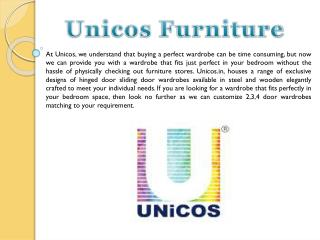 Buy Modular Wardrobes, Wardrobes Online, Customised Wardrobes in modern designs- UNiCOS