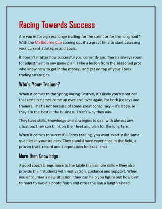 Racing Towards Success