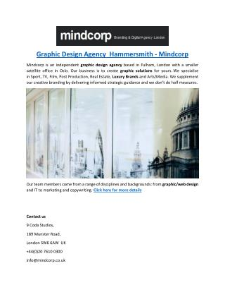 Graphic Design Agency  Hammersmith - Mindcorp