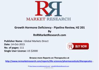 Growth Hormone Deficiency Pipeline Review H2 2015