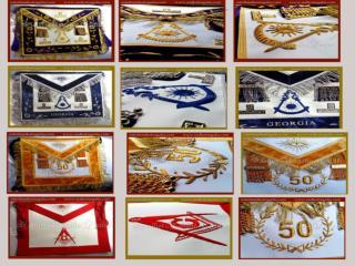 Masonic Past Master apron
