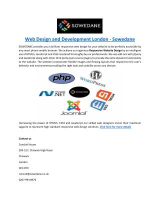Web Design and Development London - Sowedane