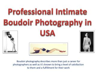 Professional Intimate Boudoir Photography in the USA