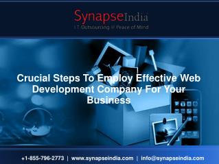 Crucial Steps To Employ Effective Web Development Company For Your Business