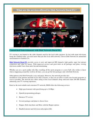 Dish Network Doral FL | (786) 766-4814