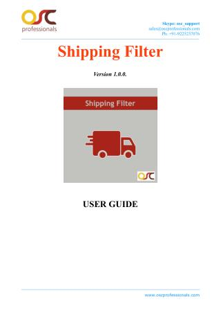 Shipping Filter