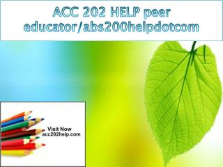 ACC 202 HELP peer educator/acc202helpdotcom