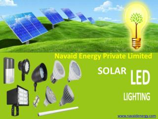 Get Solar LED Street Lights manufacturer India- Navaid Energy