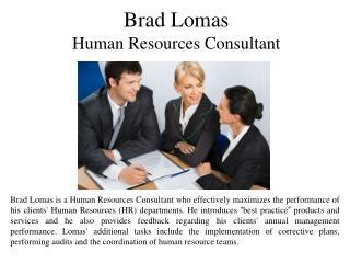 Brad Lomas Human Resources Consultant