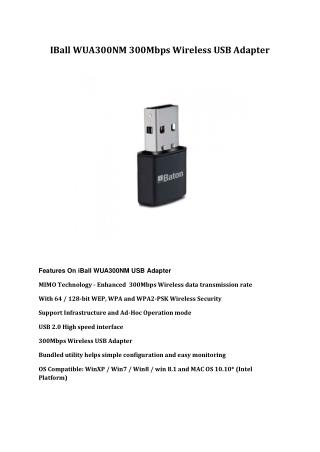 IBall WUA300NM 300Mbps Wireless USB Adapter
