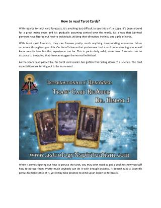 Tarot Card Reader in India, Online Classes