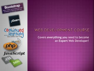 web development course with continued learning 100% Job Guarantee