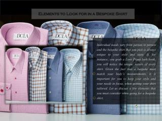 Elements to Look for in a Bespoke Shirt