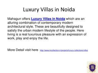 Mcollection luxury villas in noida