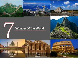 7 wonder of the world