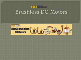 Brushless DC Motors | Robomart