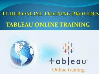TABLEAU ONLINE TRAINING and TUTORIALS IN INDIA USA UK CANADA