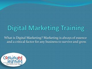 Digital Marketing course | Digital marketing training
