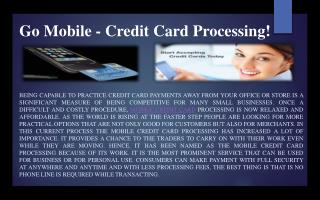 Go Mobile - Credit Card Processing