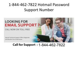 1-844-462-7822 && Hotmail Password Support Number - Toll Free