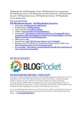 WP Blog Rocket Review - WP Blog Rocket DEMO & BONUS