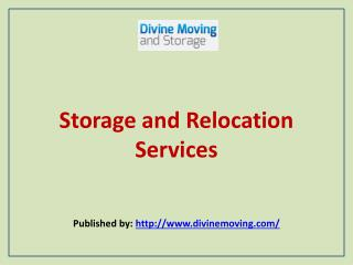 Storage And Relocation Services