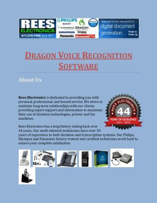 Dragon Voice Recognition Software