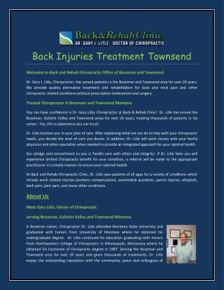 Back Injuries Treatment Townsend
