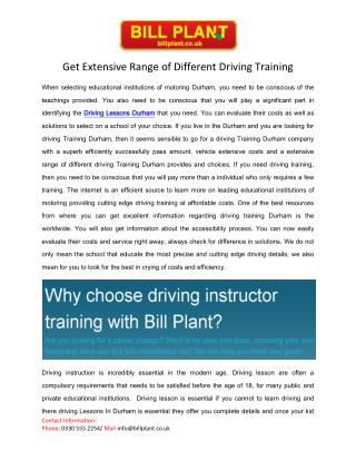 Driving Lessons Durham