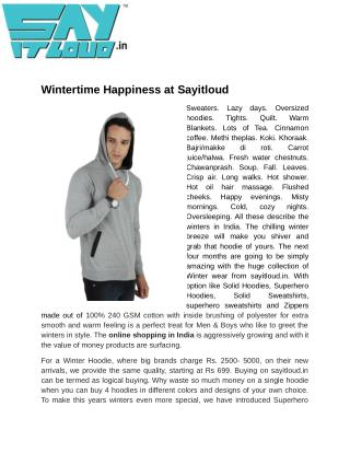 Wintertime Happiness at Sayitloud
