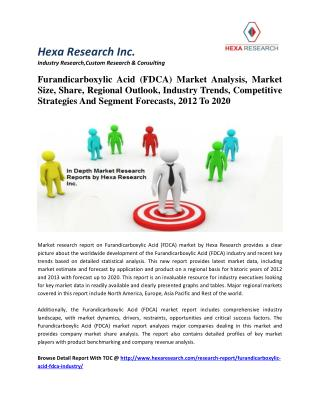 Furandicarboxylic Acid (FDCA) Market Analysis, Market Size, Share, Regional Outlook, Industry Trends, Competitive Strate