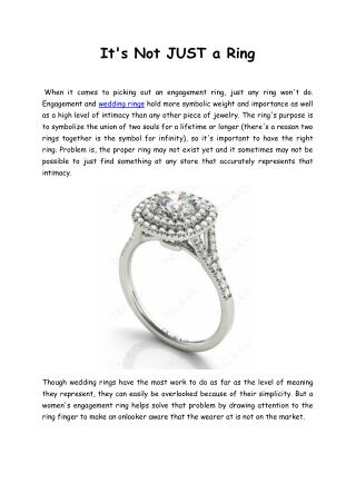 Why to Design Your Own Engagement Rings