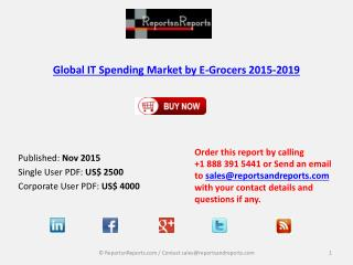 2019 IT Spending Market by E-Grocers Market Drivers, Challenges, Trends Analysis and Forecasts