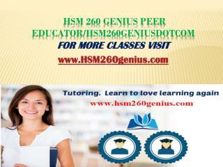 HSM 230 Expert Peer Educator/hsm230expertdotcom