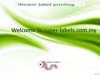 Bedazzle your products with a Label Sticker