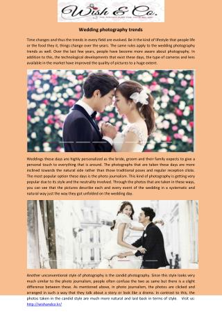 Leading Korea Wedding Photo Studio Offers Ultimate Photography Package