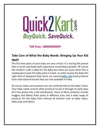 Take Care of What the Baby Needs: Bringing Up Your Kid Well