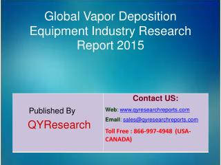 Global Vapor Deposition Equipment Market 2015 Industry Research, Outlook, Trends, Development, Study, Overview and Insig