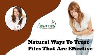 Natural Ways To Treat Piles That Are Effective
