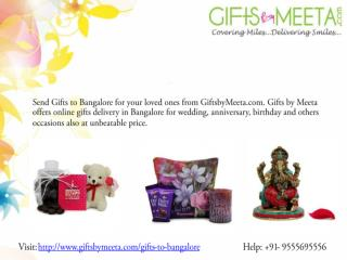 Online Gift to Bangalore and worldwide from GiftsbyMeeta