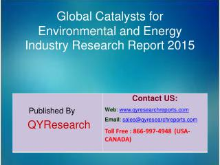 Global Catalysts for Environmental and Energy Market 2015 Industry Growth, Trends, Analysis, Share and Research