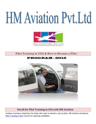 Enroll for Pilot Training in USA with HM Aviation