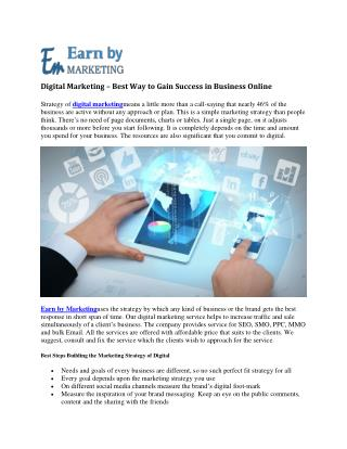 Digital Marketing  Company in Noida India-EarnbyMarketing.COM