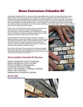 Stone Contractors Columbia SC