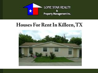 Houses For Rent In Killeen, TX