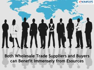 Both Wholesale Trade Suppliers and Buyers can Benefit Immensely from Esources