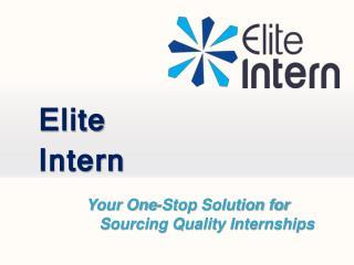 Elite Intern | Internships UK