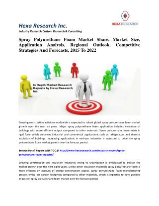Spray Polyurethane Foam Market Share, Market Size, Application Analysis, Regional Outlook, Competitive Strategies And Fo