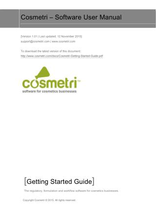 Cosmetri – Software User Manual